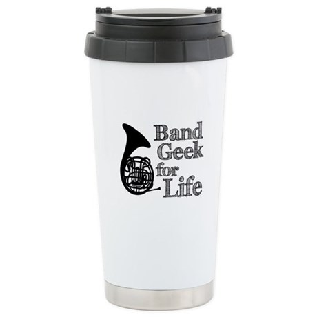 French Horn Band Geek Ceramic Travel Mug