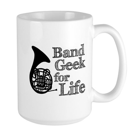 French Horn Band Geek Large Mug