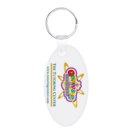 Genius In Training Aluminum Oval Keychain