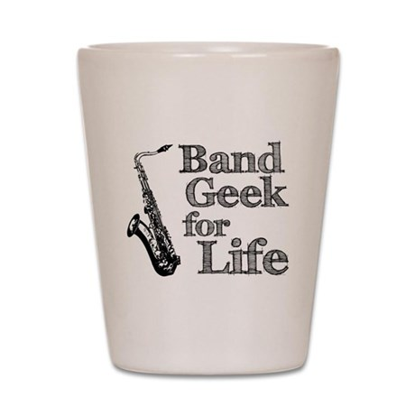 Saxophone Band Geek Shot Glass