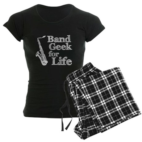 Saxophone Band Geek Women's Dark Pajamas