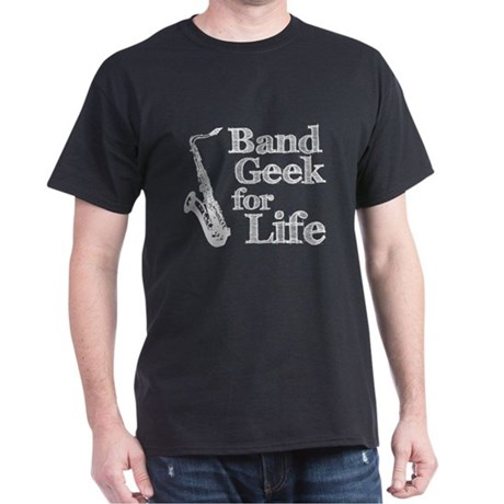 Saxophone Band Geek Dark T-Shirt