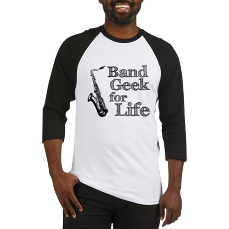 Saxophone Band Geek Baseball Jersey
