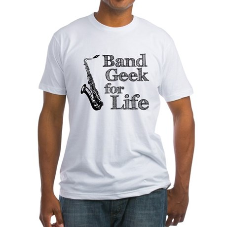 Saxophone Band Geek Fitted T-Shirt