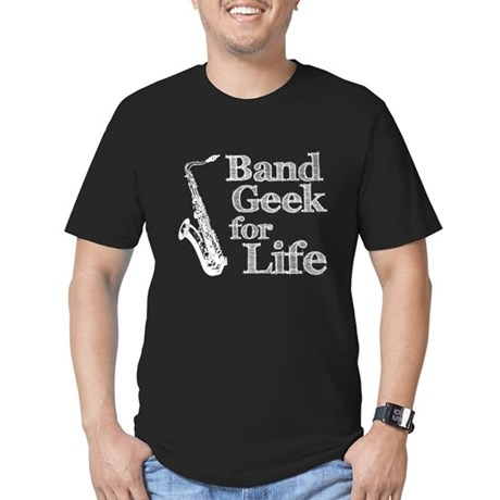 Saxophone Band Geek Men's Fitted T-Shirt (dark)