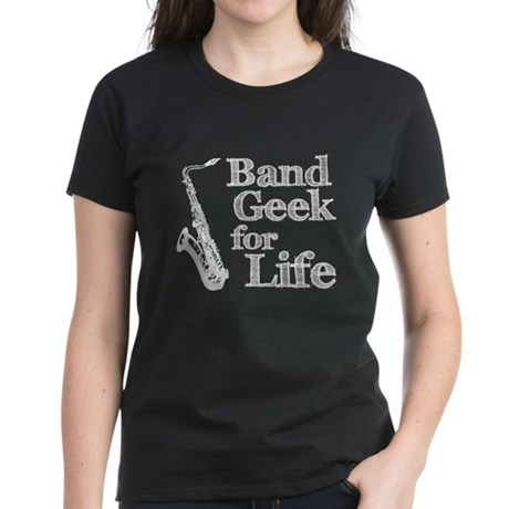 Saxophone Band Geek Women's Dark T-Shirt