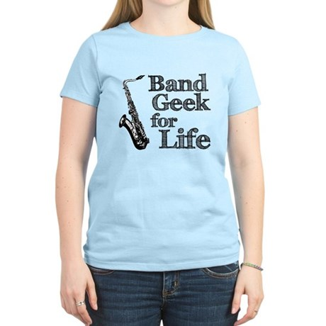 Saxophone Band Geek Women's Light T-Shirt