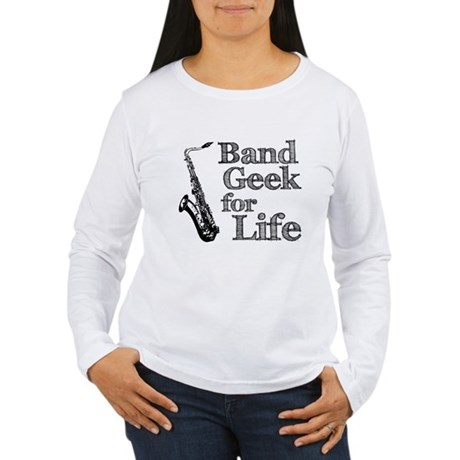 Saxophone Band Geek Women's Long Sleeve T-Shirt