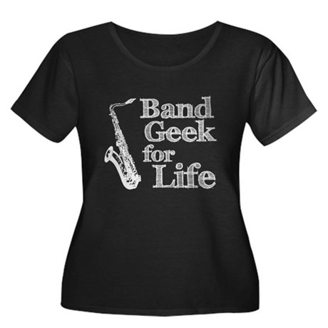 Saxophone Band Geek Women's Plus Size Scoop Neck D