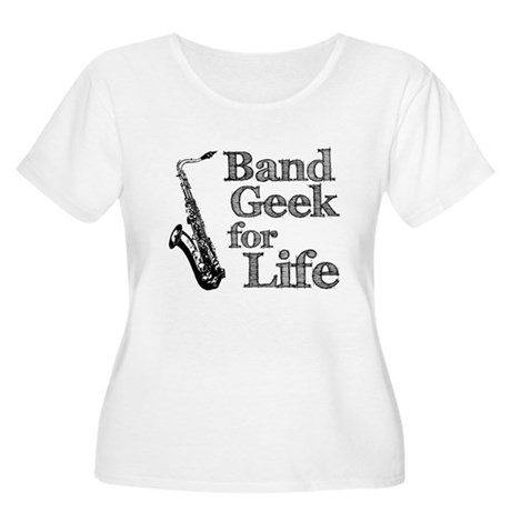 Saxophone Band Geek Women's Plus Size Scoop Neck T