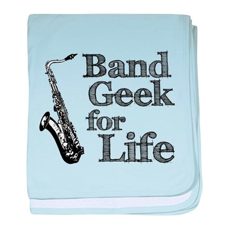 Saxophone Band Geek baby blanket