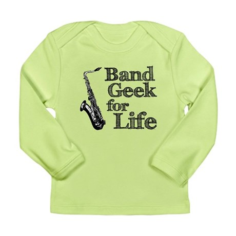 Saxophone Band Geek Long Sleeve Infant T-Shirt