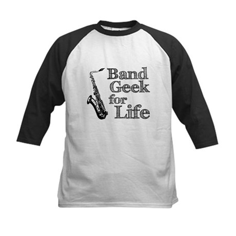 Saxophone Band Geek Kids Baseball Jersey