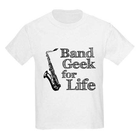 Saxophone Band Geek Kids Light T-Shirt