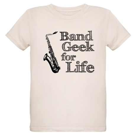 Saxophone Band Geek Organic Kids T-Shirt