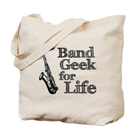 Saxophone Band Geek Tote Bag