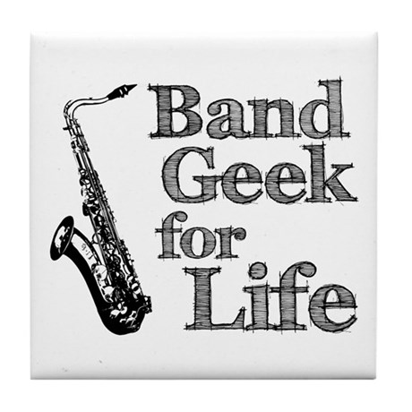 Saxophone Band Geek Tile Coaster