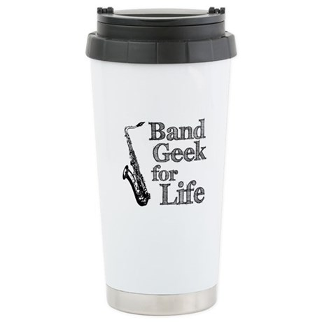 Saxophone Band Geek Ceramic Travel Mug