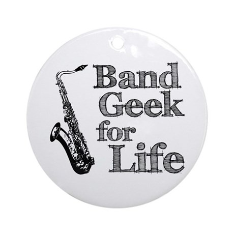 Saxophone Band Geek Ornament (Round)
