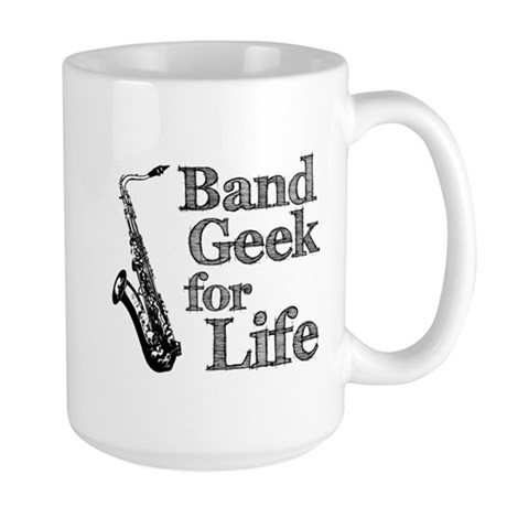 Saxophone Band Geek Large Mug