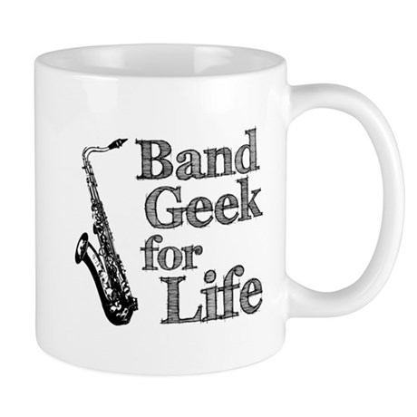 Saxophone Band Geek Mug