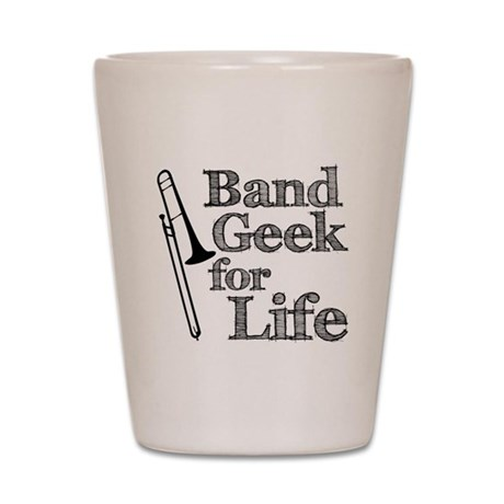 Trombone Band Geek Shot Glass