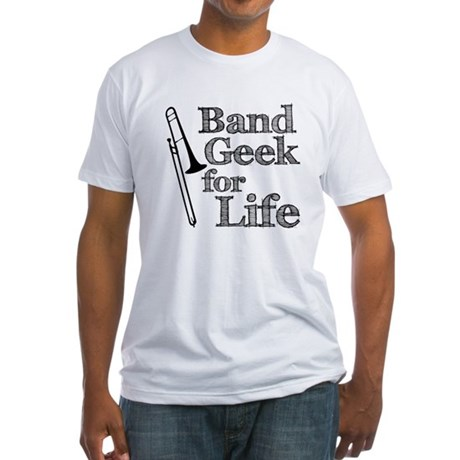 Trombone Band Geek Fitted T-Shirt