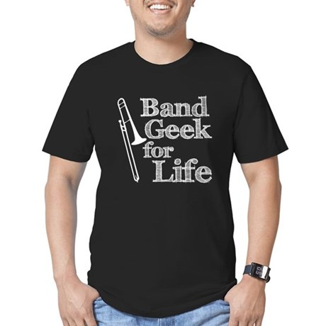 Trombone Band Geek Men's Fitted T-Shirt (dark)