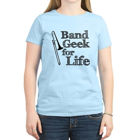 Trombone Band Geek Women's Light T-Shirt