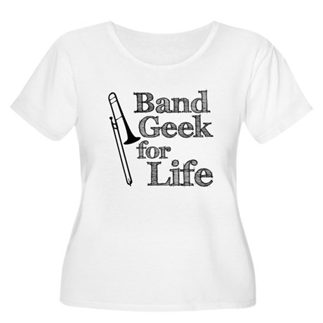 Trombone Band Geek Women's Plus Size Scoop Neck T-