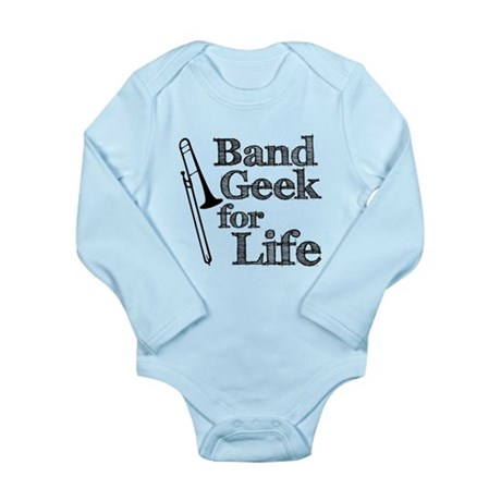 Trombone Band Geek Long Sleeve Infant Bodysuit
