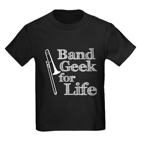Trombone Band Geek Kids Dark T-Shirt