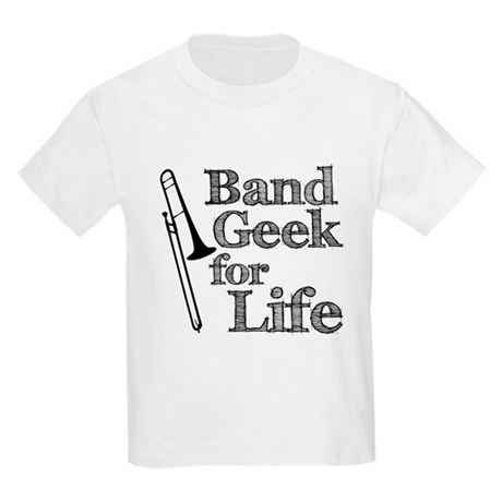 Trombone Band Geek Kids Light T-Shirt