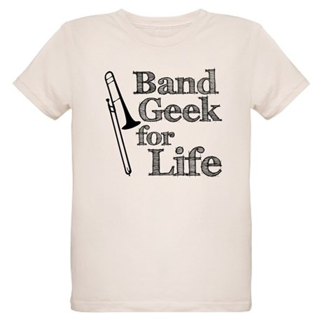Trombone Band Geek Organic Kids T-Shirt