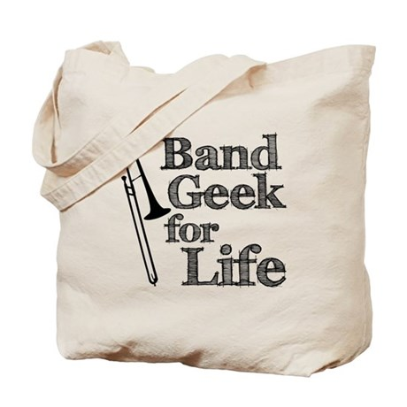 Trombone Band Geek Tote Bag