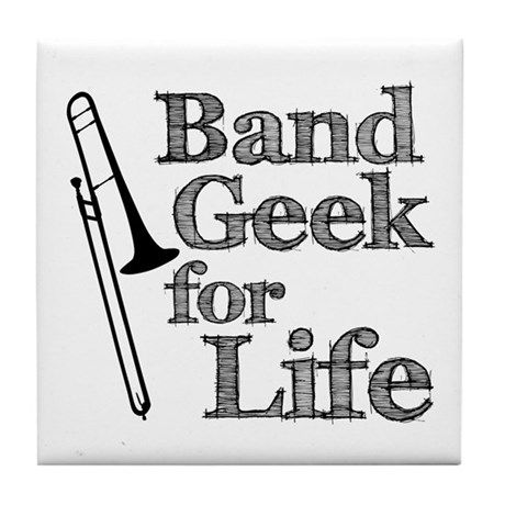 Trombone Band Geek Tile Coaster