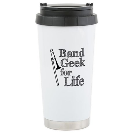 Trombone Band Geek Ceramic Travel Mug