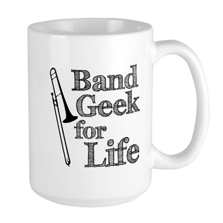 Trombone Band Geek Large Mug