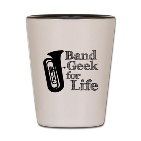Tuba Band Geek Shot Glass