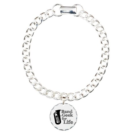 Tuba Band Geek Charm Bracelet, One Charm