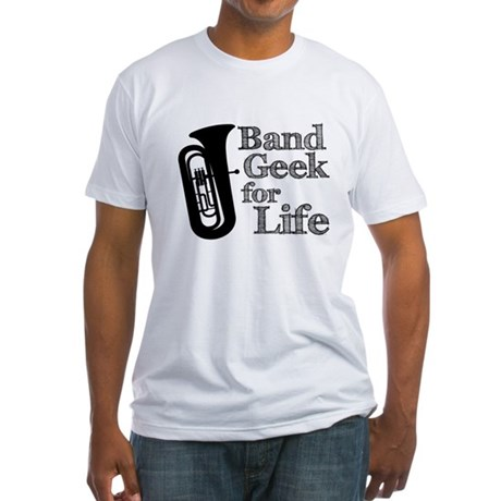 Tuba Band Geek Fitted T-Shirt