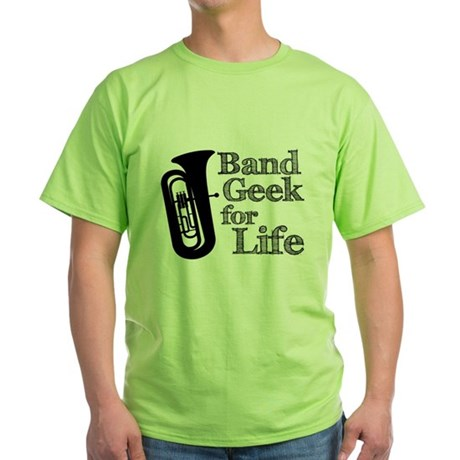 Tuba Band Geek Green T-Shirt
