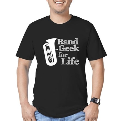 Tuba Band Geek Men's Fitted T-Shirt (dark)
