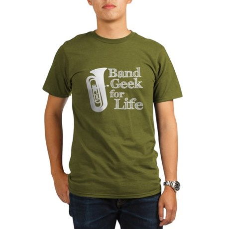 Tuba Band Geek Organic Men's T-Shirt (dark)