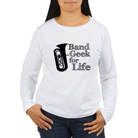 Tuba Band Geek Women's Long Sleeve T-Shirt