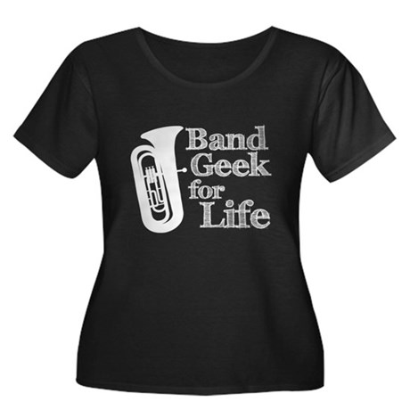 Tuba Band Geek Women's Plus Size Scoop Neck Dark T