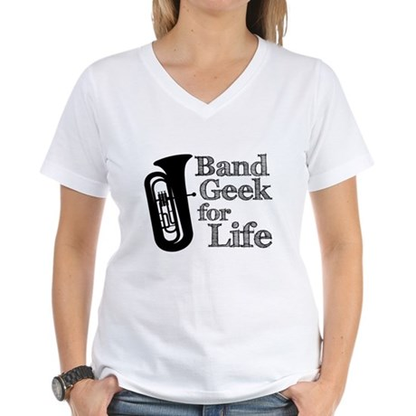 Tuba Band Geek Women's V-Neck T-Shirt