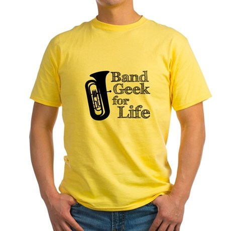 Tuba Band Geek Yellow T-Shirt