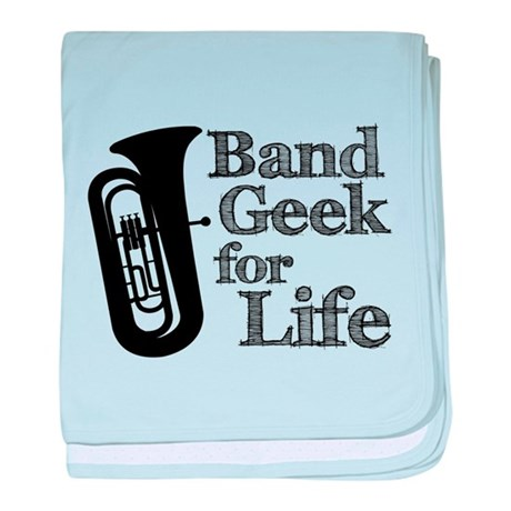 Tuba Band Geek baby blanket