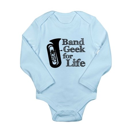 Tuba Band Geek Long Sleeve Infant Bodysuit